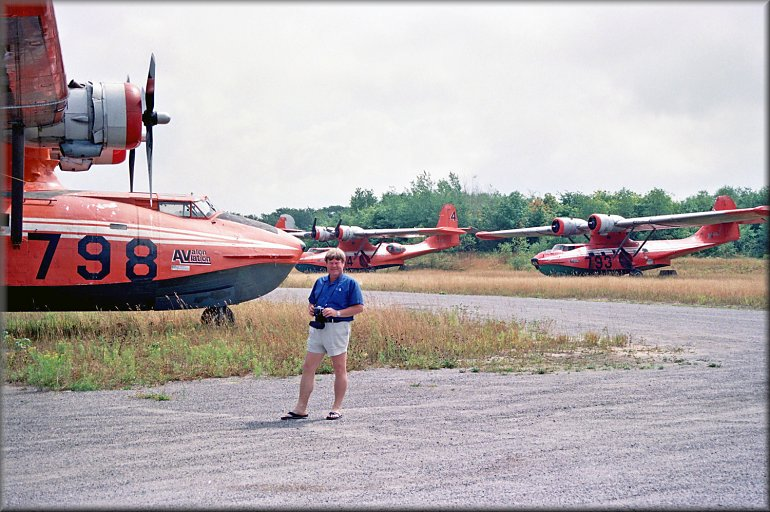 Geoff Goodall enjoying the Canadian scenery at Parry Sound, Ontario in August 1989